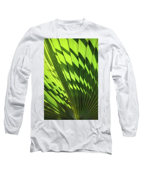 Long Sleeve T-Shirt featuring the photograph Palm Portrait Iv by Leda Robertson