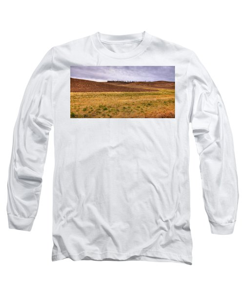 Long Sleeve T-Shirt featuring the photograph Palouse Farmland by David Patterson