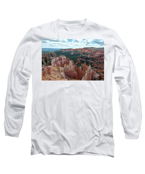 Panorama  From The Rim, Bryce Canyon  Long Sleeve T-Shirt
