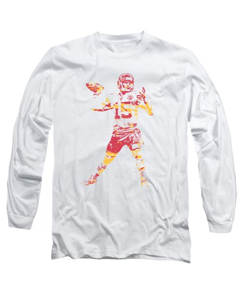 Patrick Mahomes Kansas City Chiefs Apparel T Shirt Pixel Art 1 Long Sleeve T-Shirt