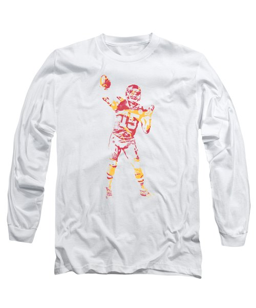 Patrick Mahomes Kansas City Chiefs Apparel T Shirt Pixel Art 2 Long Sleeve T-Shirt