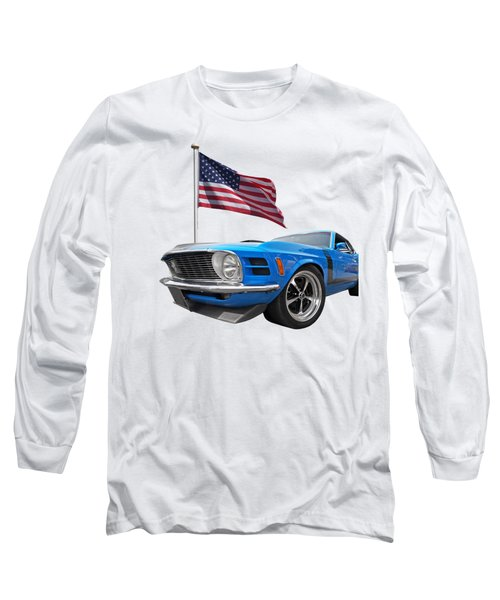 Patriotic Boss Mustang Long Sleeve T-Shirt