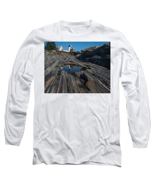 Long Sleeve T-Shirt featuring the photograph Pemaquid Lighthouse by Rick Hartigan