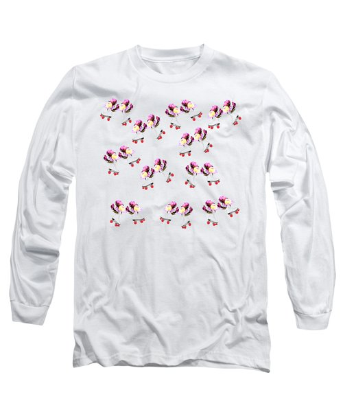 Peonies And Skate Long Sleeve T-Shirt