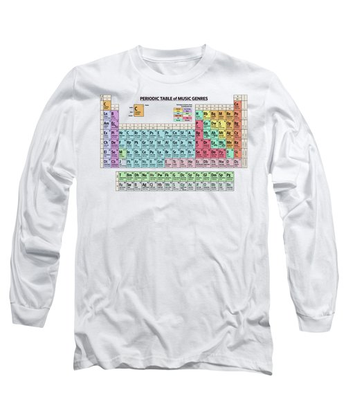 Periodic Table Of Music Genres Long Sleeve T-Shirt