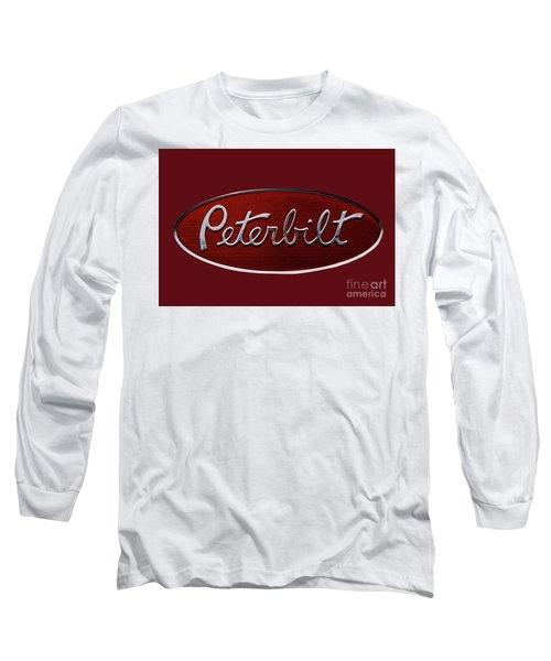 Peterbilt Emblem Red 8 Long Sleeve T-Shirt