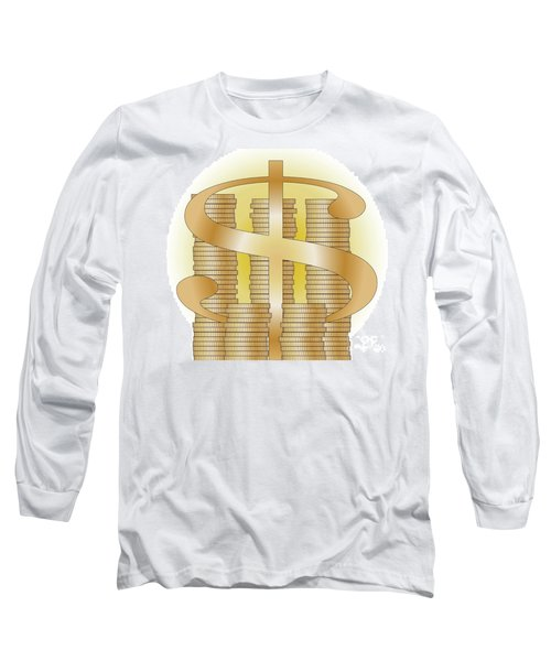 Piles Of Coins Long Sleeve T-Shirt