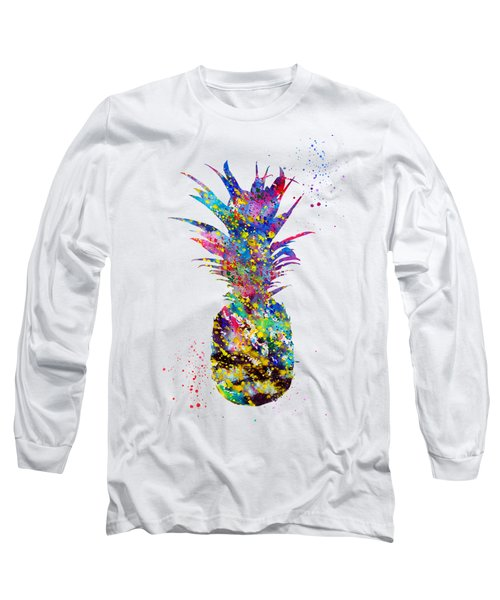 Pineapple-colorful Long Sleeve T-Shirt