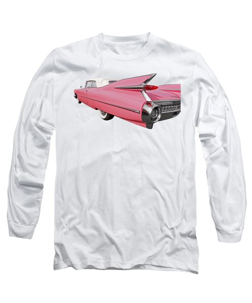 Pink Cadillac Tail Fins At Sunset Long Sleeve T-Shirt