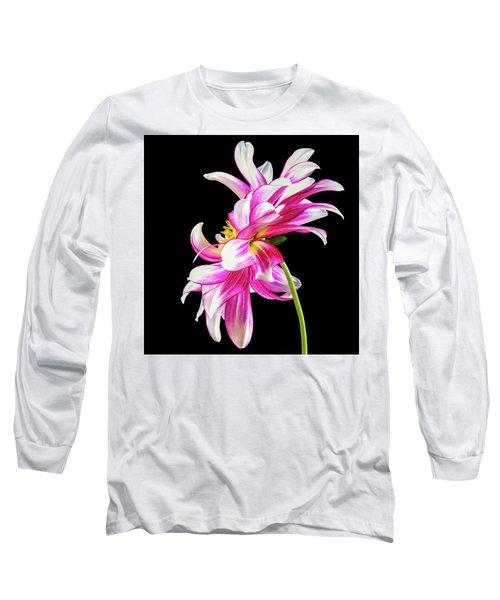 Pink Dahlia Profile Long Sleeve T-Shirt