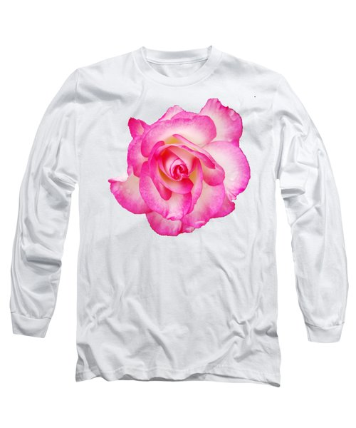 Long Sleeve T-Shirt featuring the photograph Pink Halo Rose by Rachel Hannah
