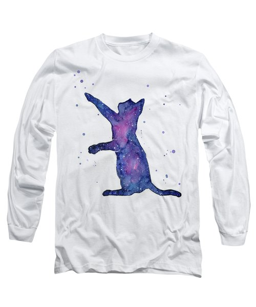 Playful Galactic Cat Long Sleeve T-Shirt