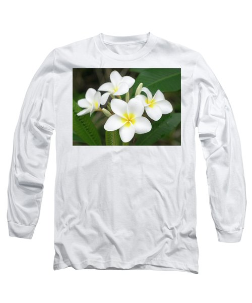 Pleasing Plumeria Long Sleeve T-Shirt