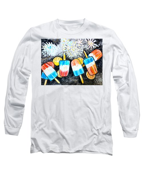 Popsicles And Fireworks Long Sleeve T-Shirt