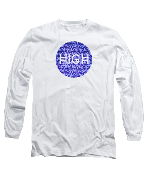 Purple Haze Cannabis Hemp 420 Marijuana  Pattern Long Sleeve T-Shirt