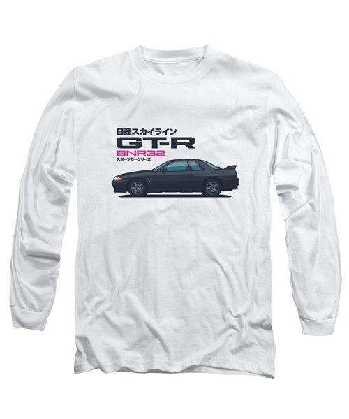 R32 Gt-r - Landscape Black Long Sleeve T-Shirt