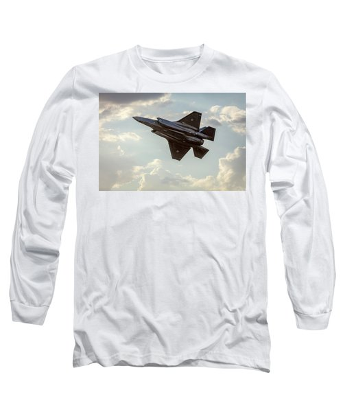 Long Sleeve T-Shirt featuring the photograph Raaf F-35a Lightning II Joint Strike Fighter by Chris Cousins