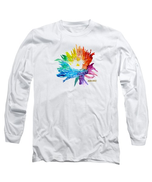 Rainbow Chrysanthemum Long Sleeve T-Shirt