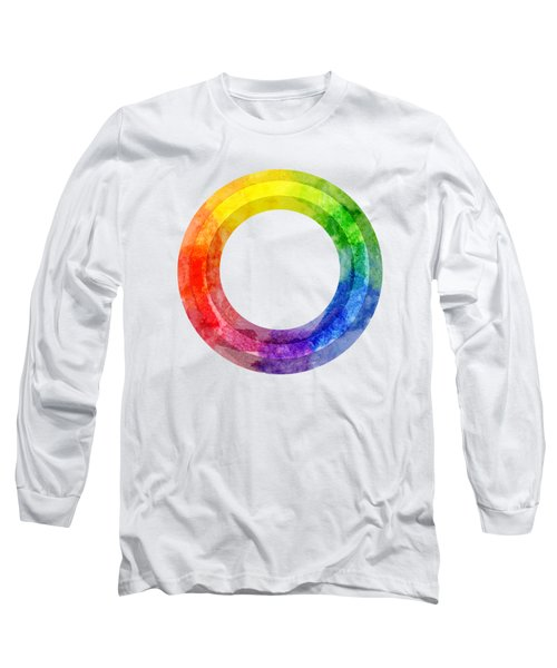 Rainbow Color Wheel Long Sleeve T-Shirt