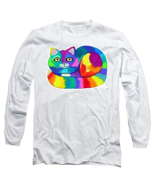 Rainbow Spectrum Cat Long Sleeve T-Shirt