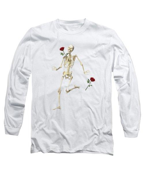 Rambling Rose Running Skeleton Long Sleeve T-Shirt