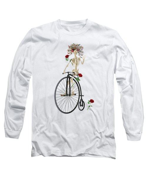 Rambling Rosy Penny Farthing Long Sleeve T-Shirt