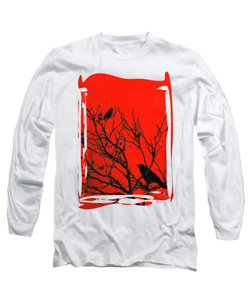 Raven - Black Over Red Long Sleeve T-Shirt