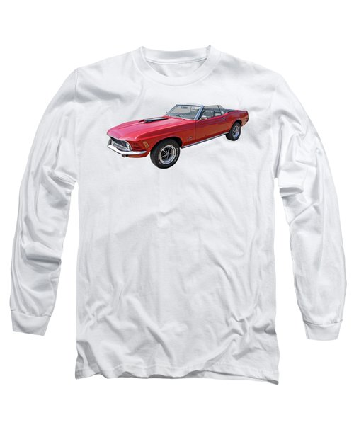 Red 1970 Mach 1 Mustang 351 Cleveland Long Sleeve T-Shirt