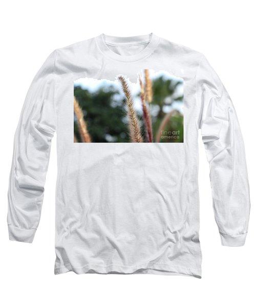 Red Grass - Pennisetum Setaceum 'rubrum' Long Sleeve T-Shirt