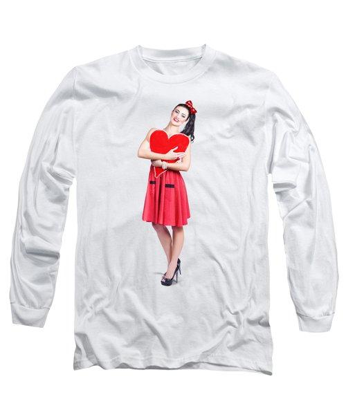Red Heart Woman Long Sleeve T-Shirt