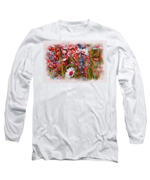 Red Motives Long Sleeve T-Shirt