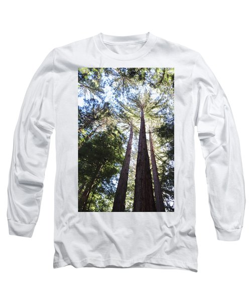 Redwoods, Blue Sky Long Sleeve T-Shirt