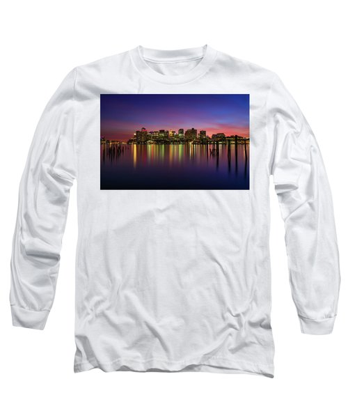 Reflections Of Boston II Long Sleeve T-Shirt