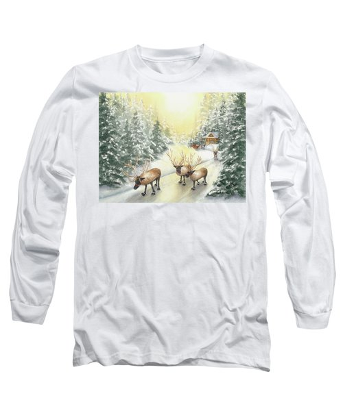 Hoofing It Under The Midnight Sun Long Sleeve T-Shirt