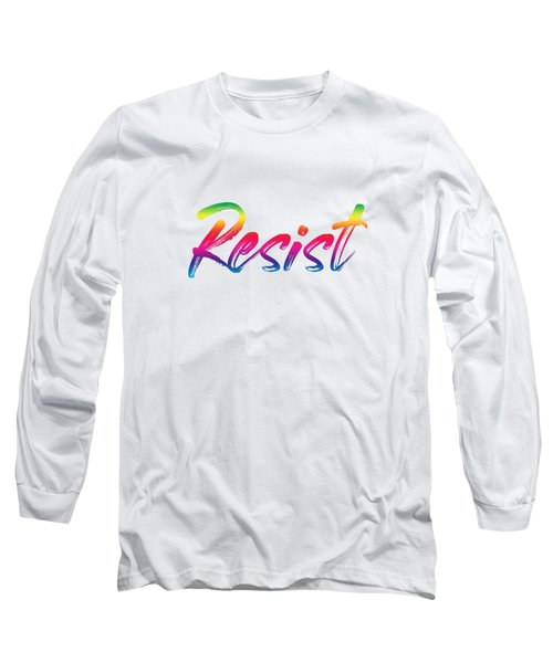 Resist - Rainbow On White Long Sleeve T-Shirt