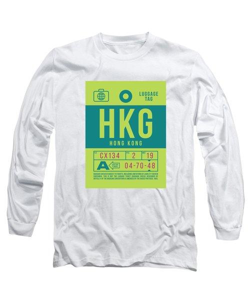 Retro Airline Luggage Tag 2.0 - Hkg Hong Kong Long Sleeve T-Shirt