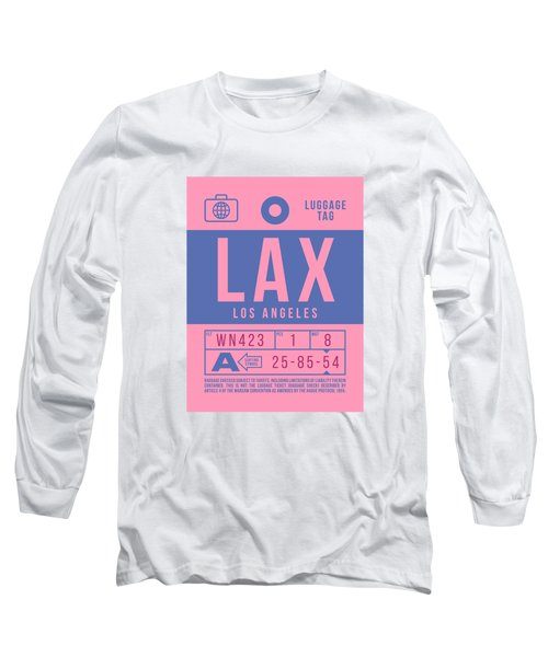 Retro Airline Luggage Tag 2.0 - Lax Los Angeles International Airport United States Long Sleeve T-Shirt
