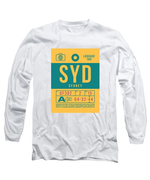 Retro Airline Luggage Tag 2.0 - Syd Sydney Kingsford Smith Airport Australia Long Sleeve T-Shirt