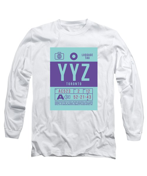 Retro Airline Luggage Tag 2.0 - Yyz Toronto International Airport Canada Long Sleeve T-Shirt