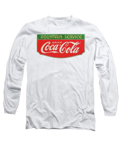 Retro Coke Sign Long Sleeve T-Shirt