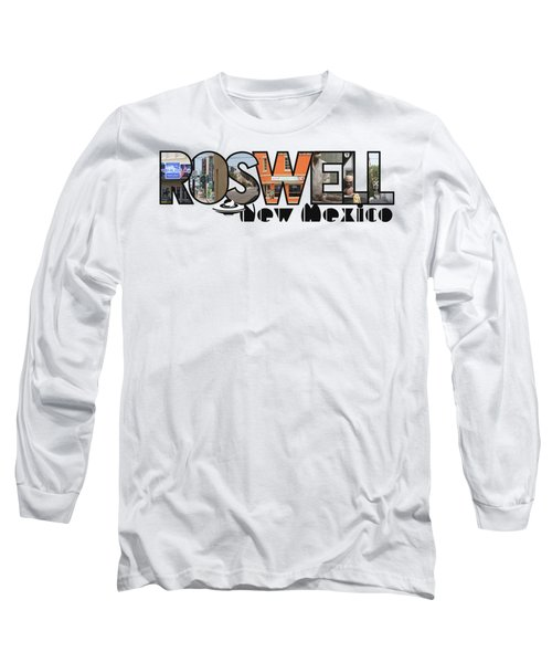 Roswell New Mexico Big Letter Travel Souvenir Long Sleeve T-Shirt