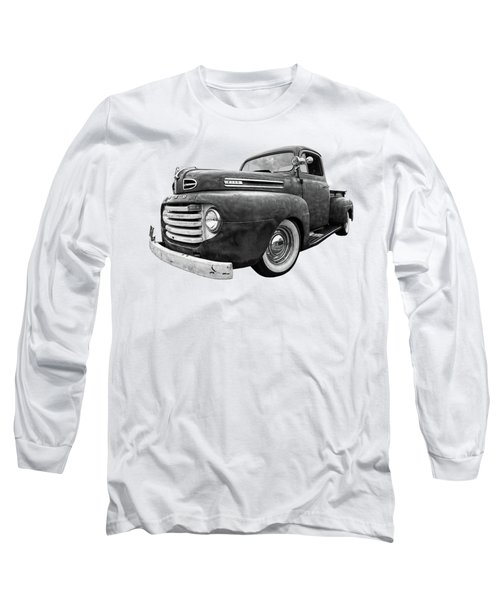 Rusty Jewel In Black And White - 1948 Ford Long Sleeve T-Shirt
