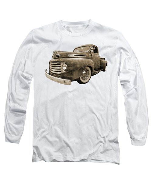 Rusty Jewel In Sepia - 1948 Ford Long Sleeve T-Shirt