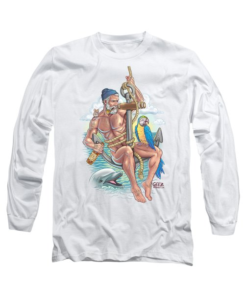Sailor On Anchor Long Sleeve T-Shirt