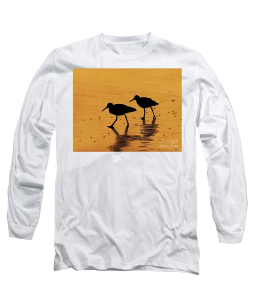 Sandpipers - At - Sunrise Long Sleeve T-Shirt