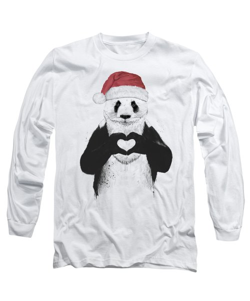Santa Panda Long Sleeve T-Shirt
