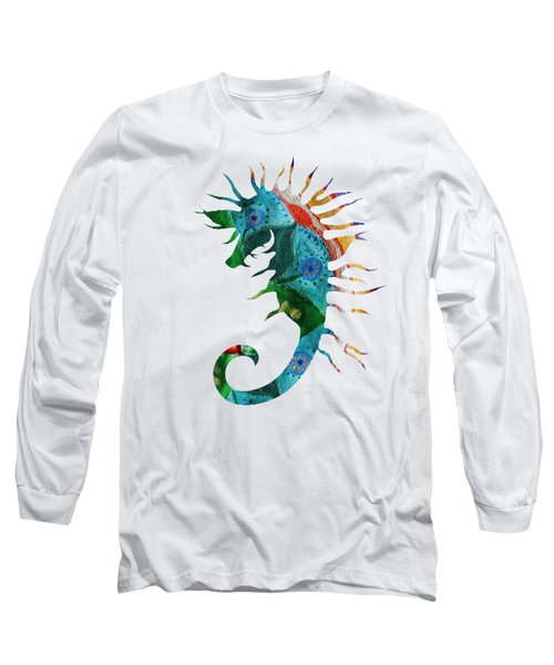 Sea Horse Abstract  Long Sleeve T-Shirt