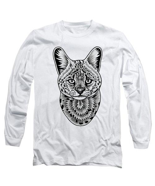 Serval Cat - In Illustration Long Sleeve T-Shirt