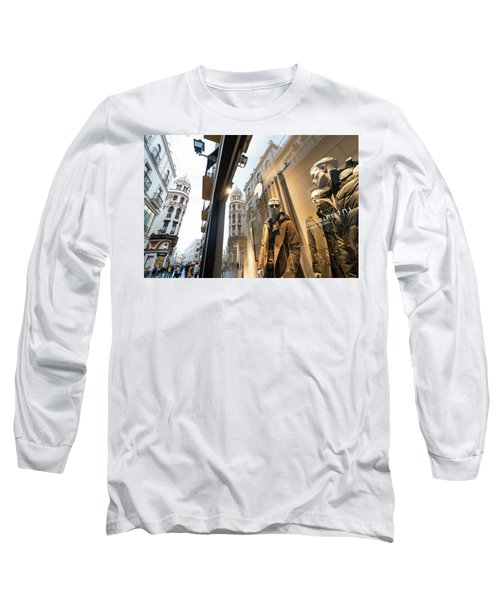 Long Sleeve T-Shirt featuring the photograph Sevilla Streets by Alex Lapidus