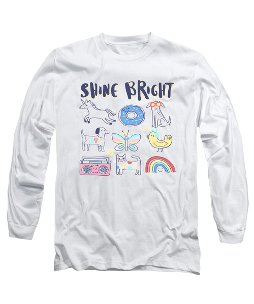 Shine Bright - Baby Room Nursery Art Poster Print Long Sleeve T-Shirt